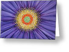 Purple Fusion Greeting Card by Deborah Glasgow