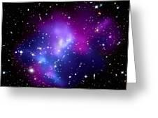 Purple Galaxy Cluster Macs J0717 Greeting Card