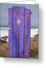 Purple Gateway To The Sea  Greeting Card by Asha Carolyn Young