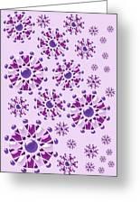 Purple Gems Greeting Card