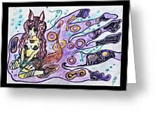 Purple Girl Greeting Card