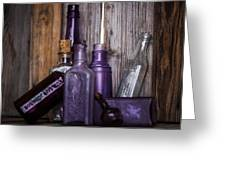 Purple Glass Greeting Card