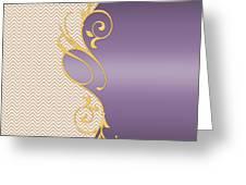 Purple Gold Chevron Greeting Card