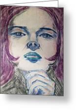 Purple Haze Greeting Card by Agata Suchocka-Wachowska