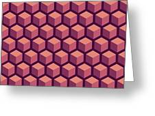 Purple Hexagonal Pattern Greeting Card