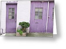 Purple House Greeting Card by Lupen  Grainne