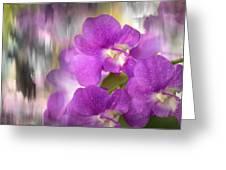Purple Impression Greeting Card