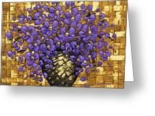 Purple In The Warm Glow Greeting Card