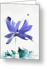 Purple Iris In The Greenery Greeting Card