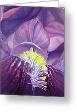 Georgia O'keeffe Style-purple Iris Greeting Card