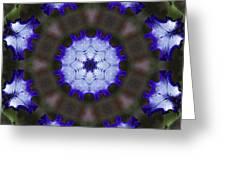 Purple Iris Kaleidoscope Greeting Card