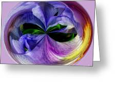 Purple Iris Orb Greeting Card