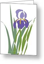 Purple Iris Stylized Greeting Card