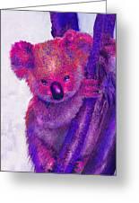 Purple Koala Greeting Card