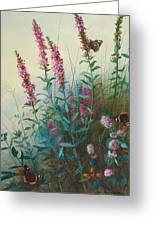 Purple Loosestrife And Watermind Greeting Card