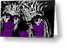Purple Mask Greeting Card