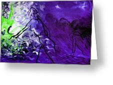 Purple Mood Greeting Card