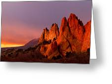 Purple Morning At Garden Of The Gods Greeting Card