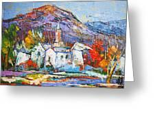 Purple Mountain Greeting Card