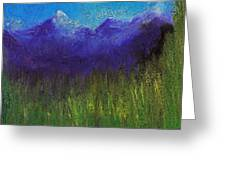 Purple Mountains By Jrr Greeting Card