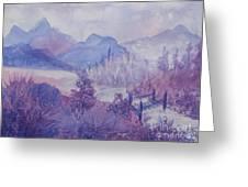 Purple Mountains Fantasy Greeting Card