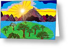 Purple Mountains Majesty Greeting Card by Lewanda Laboy
