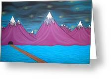 Purple Mountains Greeting Card