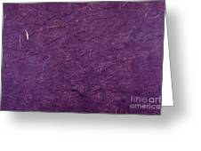 Purple Mulberry Paper  Greeting Card
