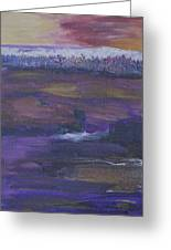Purple Ocean Greeting Card