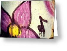 Purple Paint One Greeting Card