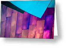 Purple Panels Greeting Card