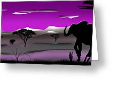 Purple Parkland Greeting Card