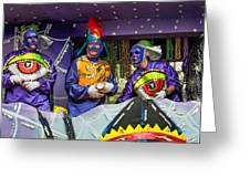 Purple Party People Greeting Card
