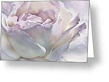 Purple Passion Pastel Rose Flower Greeting Card
