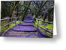 Purple Path Through The Valley Greeting Card
