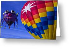 Purple People Eater Rides The Wind Greeting Card