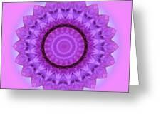 Purple Pink Kaleidoscope Greeting Card