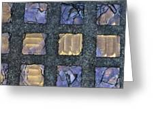 Purple Prism Glass In A Square Greeting Card
