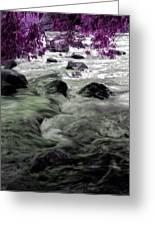 Purple River Greeting Card