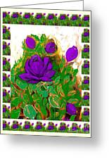 Purple Roses From The Garden 2 Greeting Card