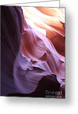 Purple Sandstone Greeting Card