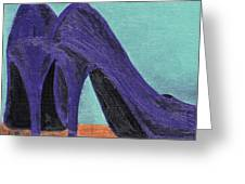 Purple Shoes Greeting Card