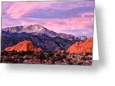 Purple Skies Over Pikes Peak Greeting Card