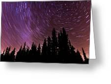 ...purple Sky Greeting Card