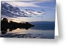 Purple Sunrise Clouds Greeting Card