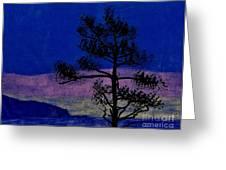 Purple Sunset Bay Greeting Card