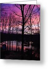 Purple Sunset On Smith Mt. Lake Greeting Card