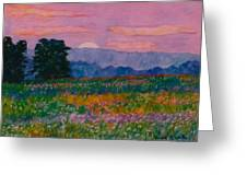Purple Sunset On The Blue Ridge Greeting Card