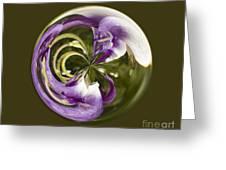 Purple Swirl Orb Greeting Card