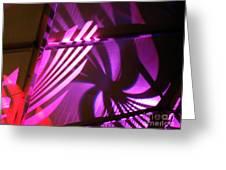 Purple Swirls Greeting Card by Eva Kato